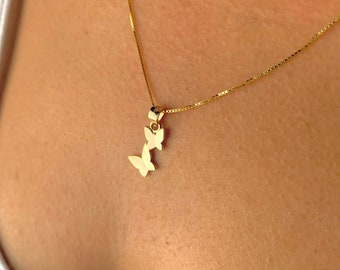 Butterfly Necklace For Women, Silver Butterfly Jewelry, Gold Butterfly Necklace, Dainty Necklace, Minimalist Necklace, Animal Necklace