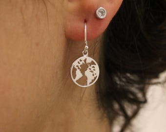 Pendientes Mapamundi - World Earrings