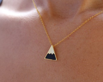 Dainty Gold Mountain Necklace For Women - Minimalist Silver Mountain Range Jewelry - Pendant To Gift For Her