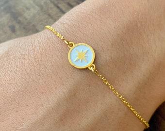 Compass Bracelet, Bracelets For Women, Compass Jewelry, Dainty Bracelet, Gold Bracelet, Gold Compass Bracelet, Women Bracelet, Gift For Her
