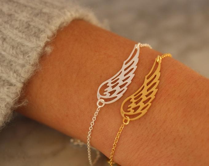 Angel Wing Bracelet, Wing Bracelet, Dainty Bracelet, Bracelet For Women, Wings Bracelet, Silver Bracelet, Angel Wing Jewelry, Tiny Bracelet
