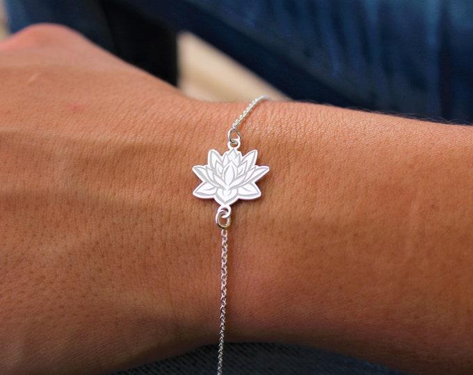 Pulsera Flor De Loto - Lotus Flower Bracelet