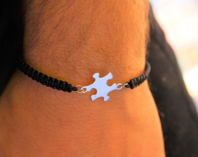 Puzzle Bracelet, Mens Bracelet, Bracelets For Men, Charm Bracelet, Puzzle Jewelry, Bracelet Men, Puzzle Piece Bracelet, Friendship Bracelet