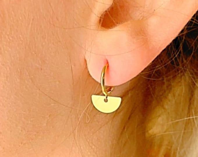 Geometric Hoop Earrings, Gold Hoop Earrings, Geometric Earrings, Geometric Jewelry, Hoop Earrings, Tiny Hoop Earrings, Dainty Earrings