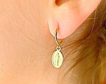 Virgin Hoop Earrings