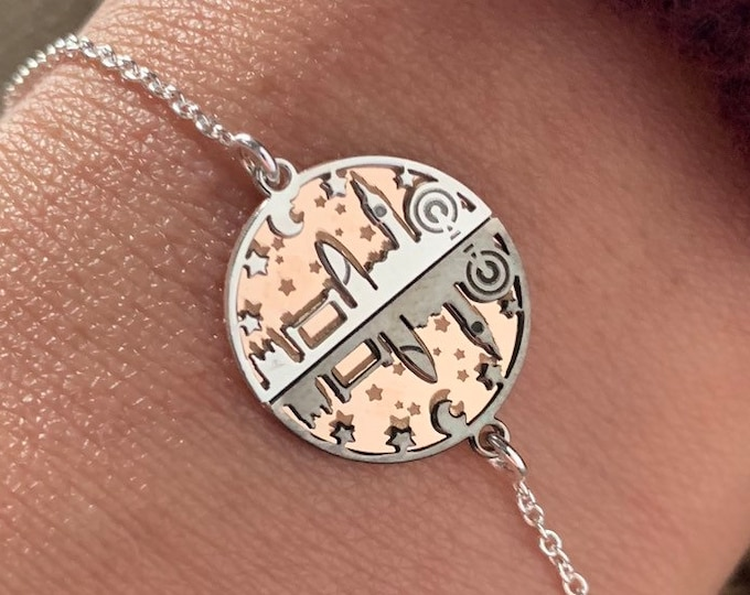 Sterling Silver London Skyline Bracelet For Women, London Jewelry, Skyline Bracelet, Silver Bracelet, Travel Bracelet, Travel Jewelry