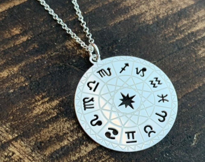Sterling Silver Zodiac Necklace For Women, Zodiac Jewelry, Celestial Necklace, Silver Necklace, Zodiac Sign Necklace, Constellation Necklace