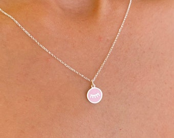 Sterling Silver Tabs Charm Pendant Necklace For Women - Dainty Gold Tabs Jewelry
