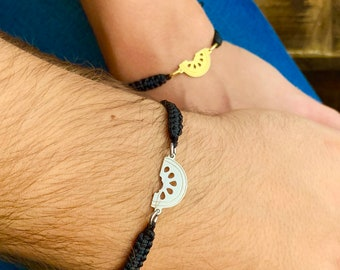 Silver Watermelon Couple Bracelet - Gold Friendship Set Jewelry - Gift For Couples
