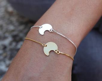 Dainty Bracelet, Crescent Moon Bracelet, Moon Bracelet, Silver Bracelet, Tiny Bracelet, Bracelet, Bracelet For Women, Gift For Her