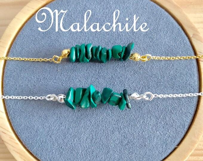 Raw Stone Bracelet, Malachite Bracelet, Bracelets For Women, Raw Stone Jewelry, Beaded Bracelet, Malachite Jewelry, Gemstone Bracelet