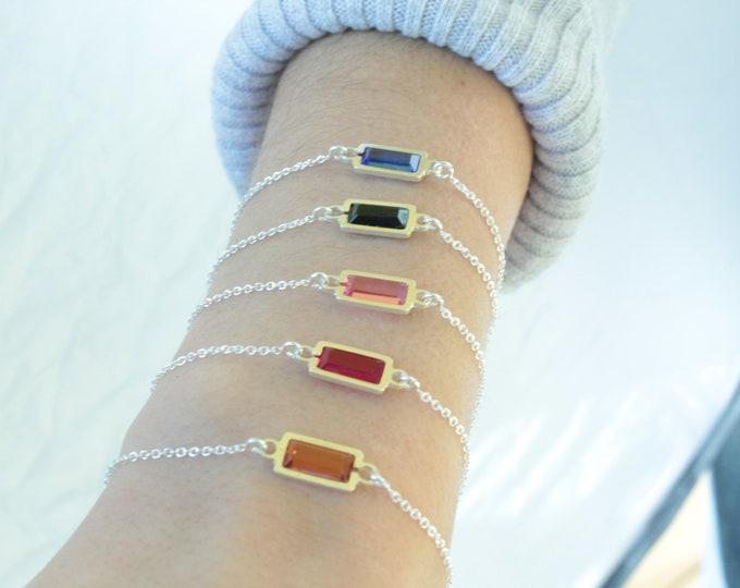 Bracelets For Women, Swarovski Bracelet, Dainty Bracelet, Crystal Bracelet, Silver Bracelet, Swarovski Jewelry, Customized Bracelet