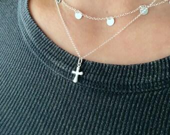 Sterling Silver Cross Necklace For Women, Cross Jewelry, Religion Necklace, Silver Necklace, Dainty Necklace, Minimalist Necklace, Jewelry