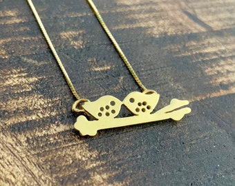 Bird Necklace, Necklaces For Women, Dainty Necklace, Bird Jewelry, Silver Bird Necklace, Bird Charm Necklace, Minimalist Necklace, Birds