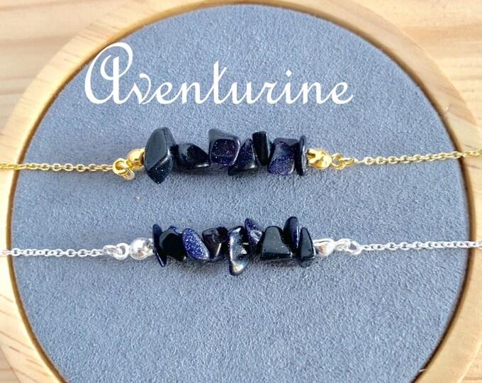 Raw Stone Bracelet, Aventurine Bracelet, Bracelets For Women, Raw Stone Jewelry, Beaded Bracelet, Aventurine Jewelry, Gemstone Bracelet