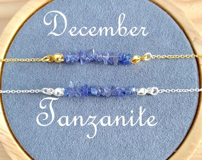Birthstone Bracelet, Raw Tanzanite Bracelet, Bracelets For Women, Birthstone Jewelry, Tanzanite Jewelry, Raw Bracelet, Raw Jewelry, December