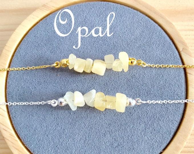 Raw Stone Bracelet, Opal Bracelet, Bracelets For Women, Raw Stone Jewelry, Beaded Bracelet, Opal Jewelry, Gemstone Bracelet