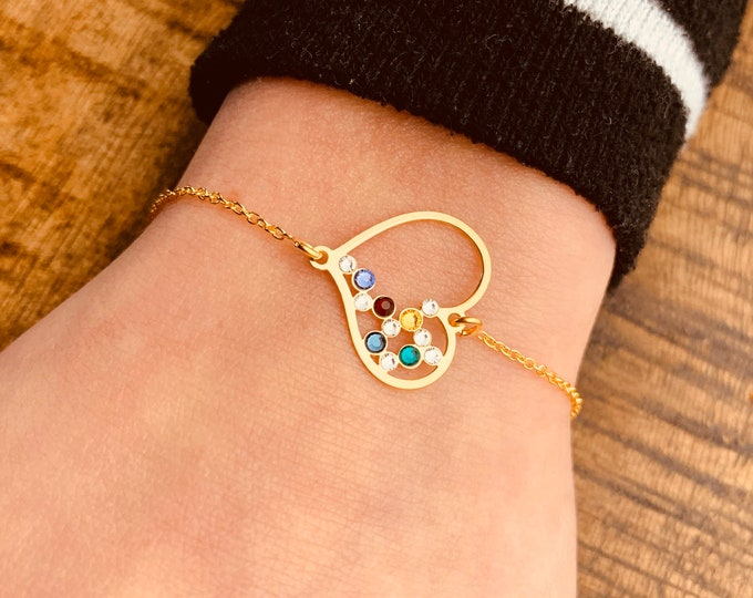 CZ Heart Charm Bracelet For Women - Dainty Gold Bracelet - Minimalist Silver Bracelet - Heart Jewelry To Gift For Her