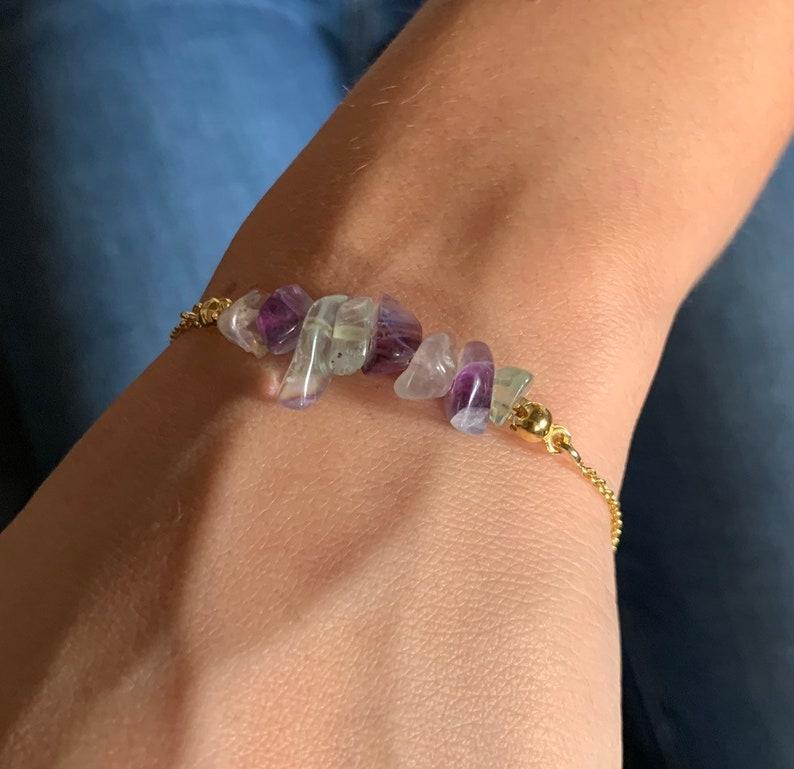 Raw Stone Jewelry Raw Stone Bracelet Beaded Bracelet Fluorite Jewelry Bracelets For Women Fluorite Bracelet Crystal Jewelry