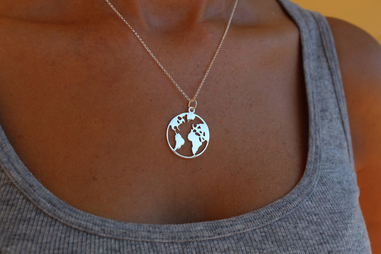 World necklace globe necklace dainty necklace necklace for women world necklace globe necklace dainty necklace necklace for women world map necklace silver world necklace travel necklace gumiabroncs Gallery