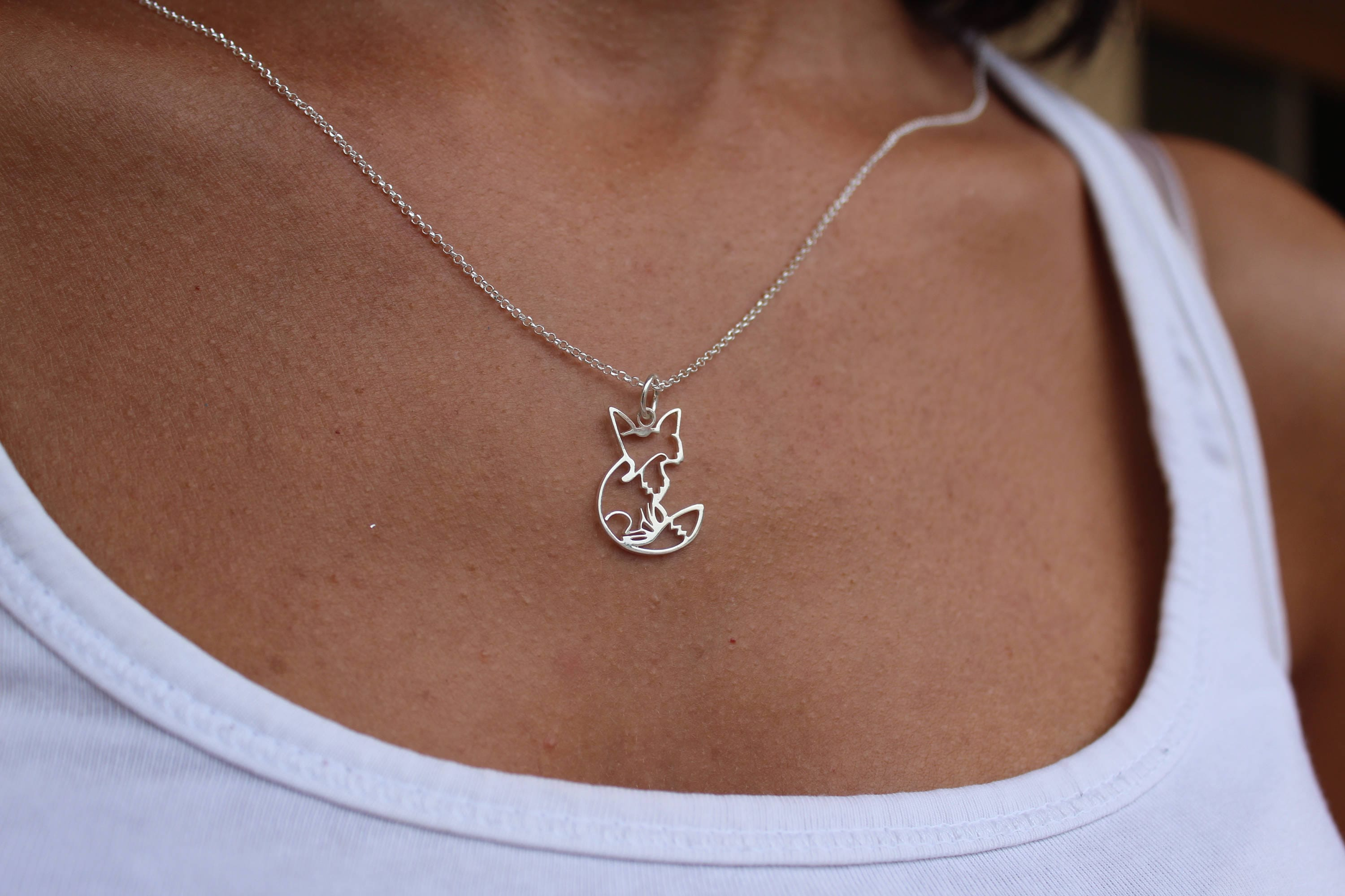 Necklaces For Women Fox Necklace Origami Necklace Women Necklace