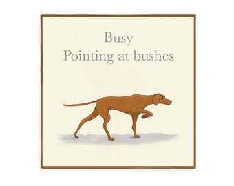 Pointing Vizsla card dog greetings card blank inside for birthday card thank you card and more
