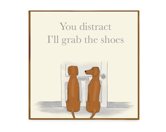 I'll grab the shoes Vizsla dog greetings card blank inside for birthday card thank you card and more