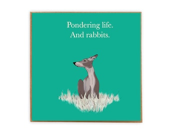 Funny Whippet Card our lovely dog greetings card for dog lovers blank inside