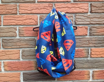 Superman DC Comics Infinity Scarf Adult Cotton Fabric