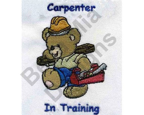 Carpenter Teddy Bear Machine Embroidery Design Embroidery Etsy