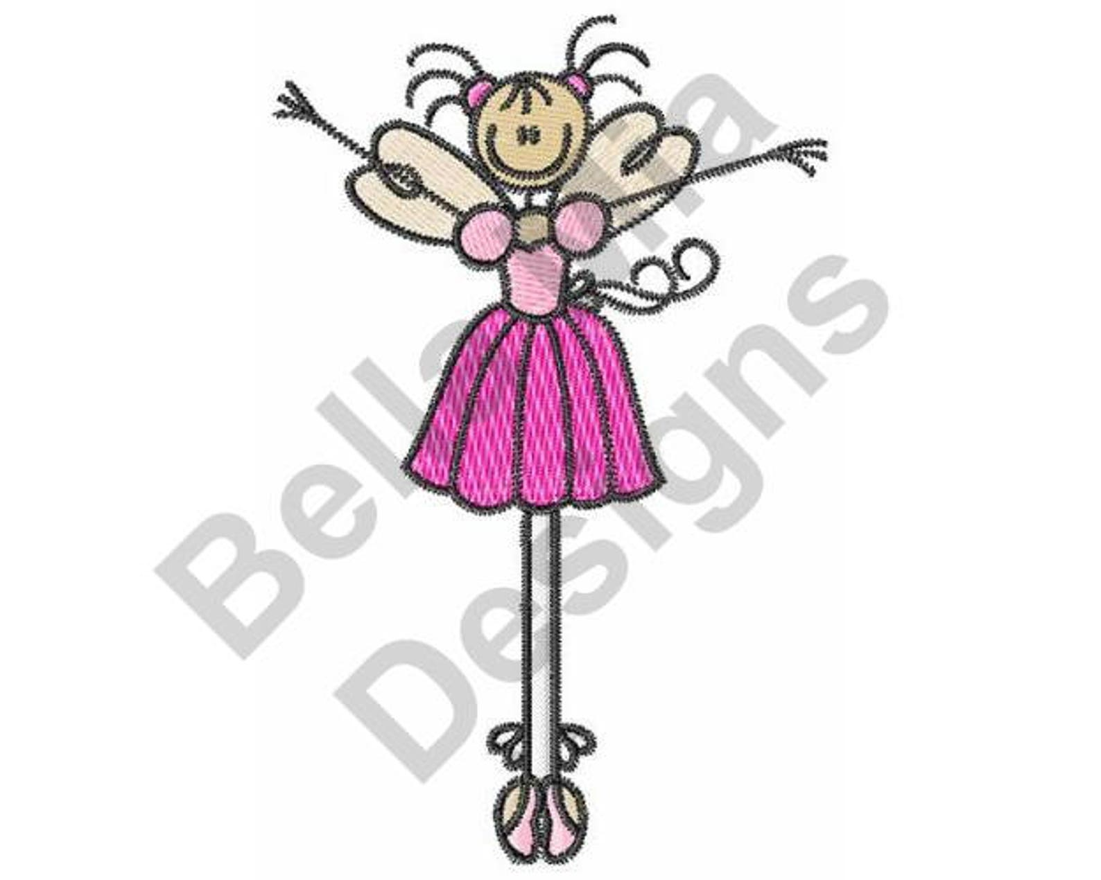 ballet fairy - machine embroidery design, embroidery patterns, embroidery files, instant download