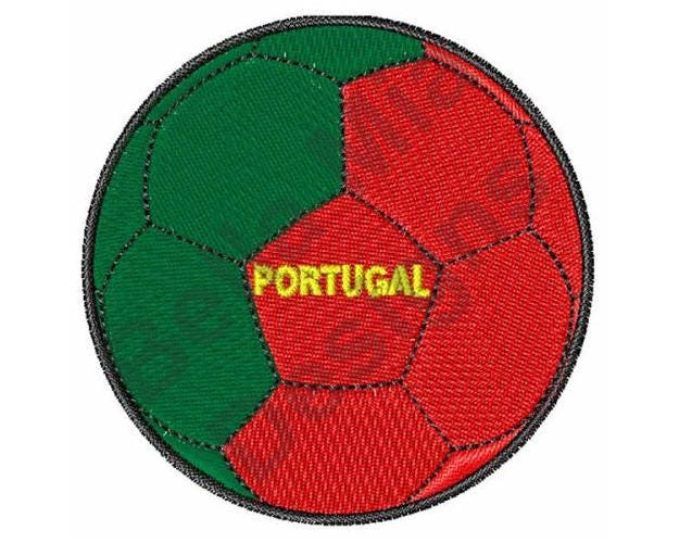 Soccer Ball Machine Embroidery Design Portuguese Soccer Etsy
