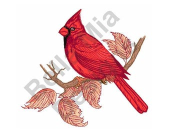 Bird - Machine Embroidery Design, Cardinal