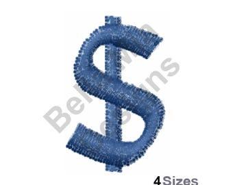 Dollar Sign - Machine Embroidery Design, DS Mysticora Font