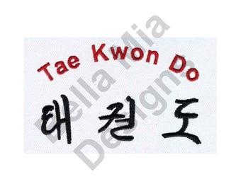 Karate - Machine Embroidery Design, Tae Kwon Do