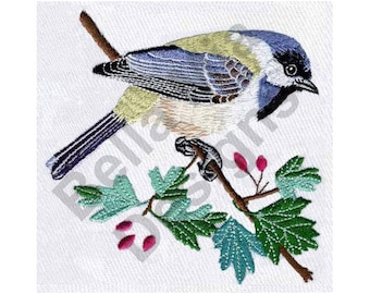 Bird - Machine Embroidery Design, Chickadee