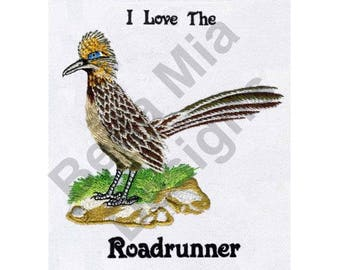 Bird - Machine Embroidery Design, Roadrunner, Greater Roadrunner