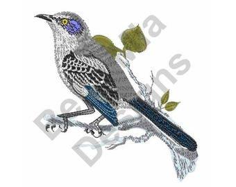 Bird - Machine Embroidery Design, Mockingbird