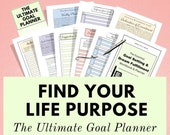 Goal Planner - The Ultimate Goal & Dream Fulfillment Planner to find clarity about your life and feel motivated. The ultimate in self care!