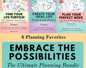 The Ultimate Life Planner, Motivation & Self Care Bundle - Find your focus, motivation, energy for life and overall happiness. Guaranteed!