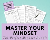 Mindset Bundle - If you change the way you look at things, the things you look at change. Time for a change? These printables are perfect :)