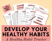 Habit Tracker Kit to work on your new habits and improve your life is so many ways - Improving habits is the ultimate self care practice!