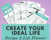 Life Planner, Goal Printable Planner, Self Care Planner, Wellness Journal, Goal Tracker, Goal Journal, Happy Planner, Bullet Journal