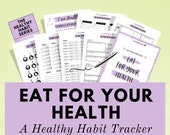Habit Tracker Kit to improve your eating habits & uplevel your health! Improve your overall wellness, mental health and happiness. It works!