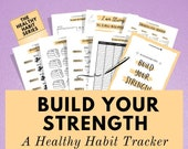 Habit Tracker Kit to Build Your Strength and Uplevel Your Health! Improve your overall fitness, wellness, mental health and happiness today!