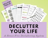 Declutter your life and home stress-free with this printable decluttering system. It's the perfect way to declutter your life :)