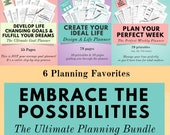 Life Planner Bundle, Weekly Planner 2020, Goal Planner 2020, Home Organization, Printable Planner, Declutter, Time Management, Goodnotes