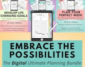 Digital Life Planner Bundle, Digital Weekly Planner, Digital Goal Planner, Digital Declutter Planner, Digital Day Planner, Digital Monthly