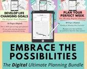 Digital Life Planner Bundle, Digital Weekly Planner, Digital Goal Planner, Digital Declutter Planner, Digital Day Planner, Digital Monthly