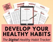 Digital Habit Tracker Planner, iPad Tablet Planner, Goodnotes, Notability, Digital Journal, Digital Tracker, Digital Notebook, Self Care